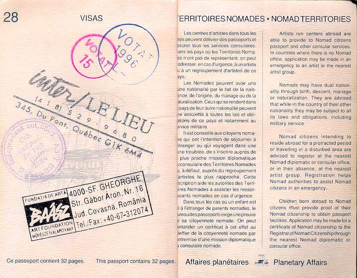 Visa page and Rules' page